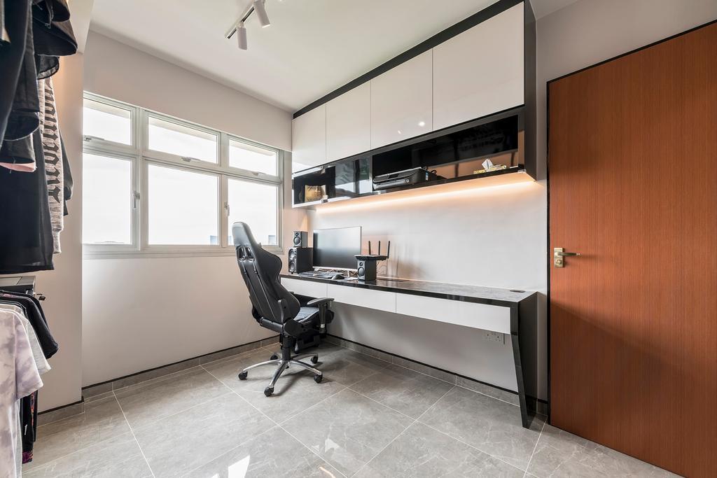 Contemporary, HDB, Study, Skyline II, Interior Designer, NID Design Group