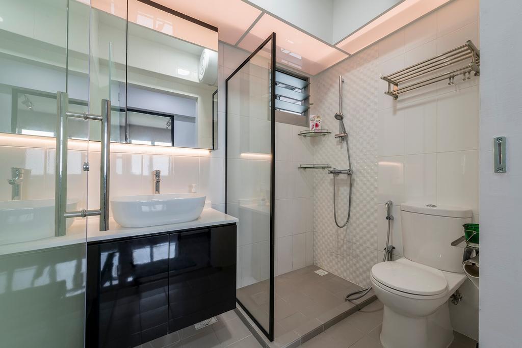 Contemporary, HDB, Bathroom, Skyline II, Interior Designer, NID Design Group