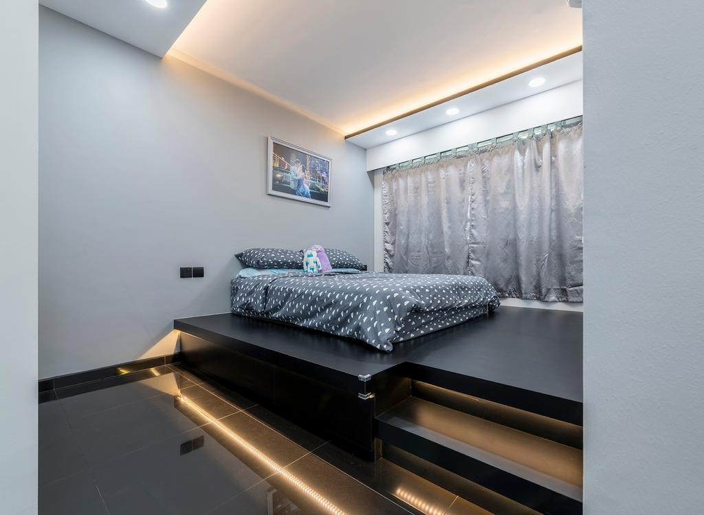 Contemporary, HDB, Bedroom, Skyline II, Interior Designer, NID Design Group