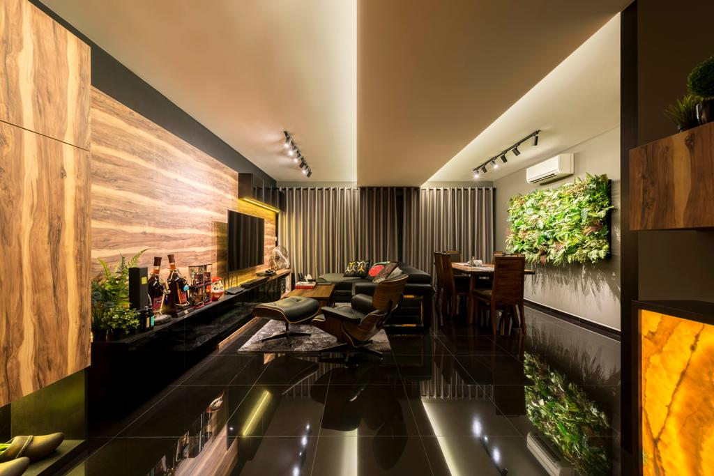 Contemporary, HDB, Living Room, Yishun Avenue 1, Interior Designer, NID Design Group