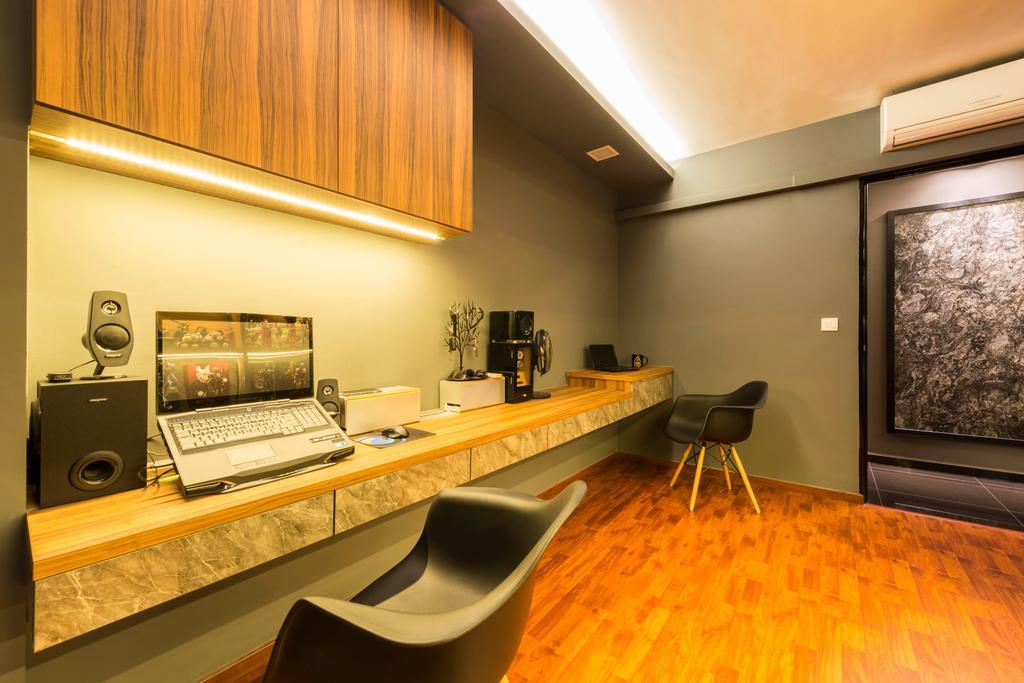 Contemporary, HDB, Study, Yishun Avenue 1, Interior Designer, NID Design Group