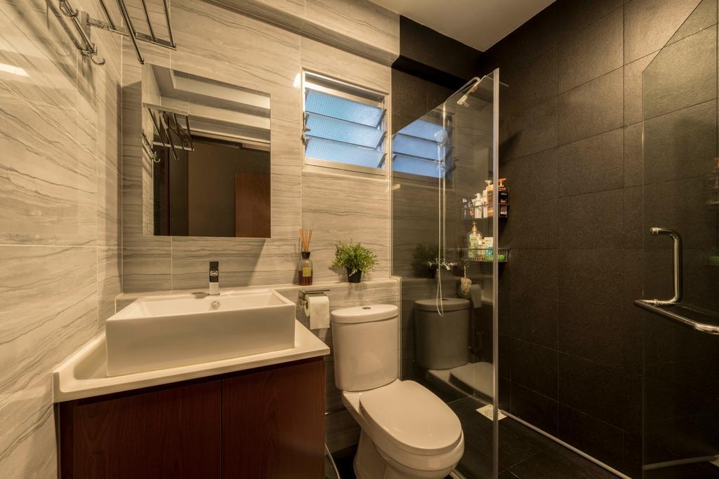 Contemporary, HDB, Bathroom, Yishun Avenue 1, Interior Designer, NID Design Group
