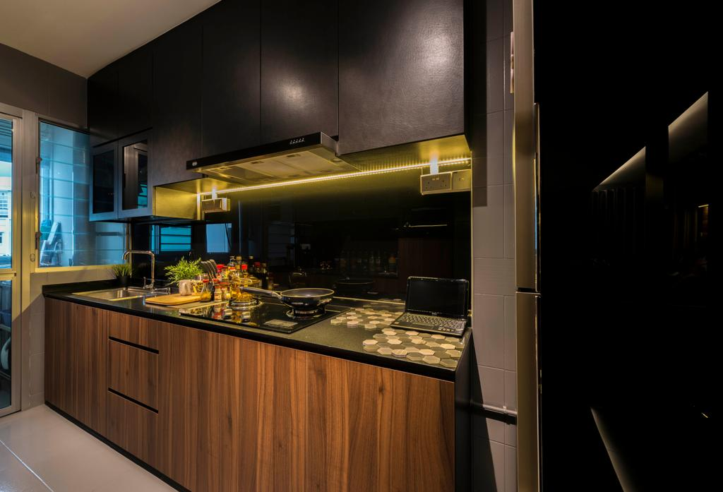 Contemporary, HDB, Kitchen, Yishun Avenue 1, Interior Designer, NID Design Group