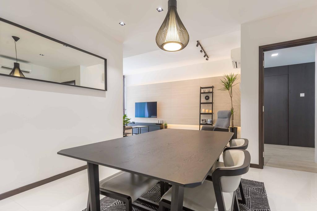 Contemporary, Condo, Dining Room, The Alcove, Interior Designer, NID Design Group