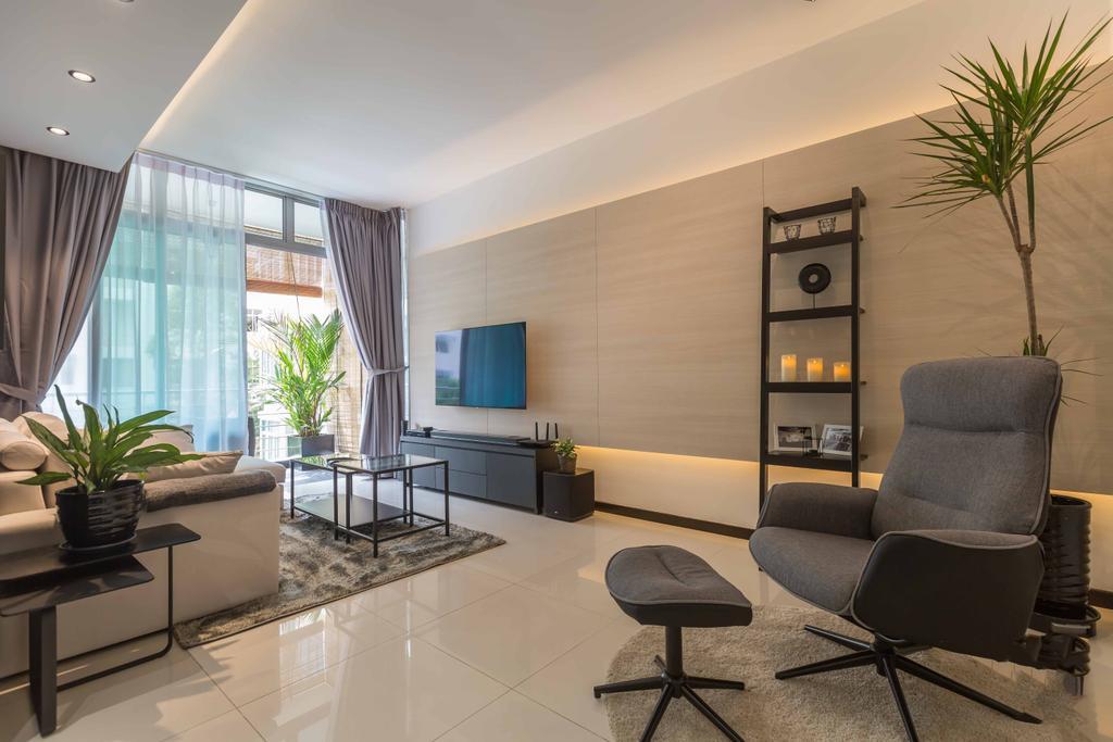 Contemporary, Condo, Living Room, The Alcove, Interior Designer, NID Design Group