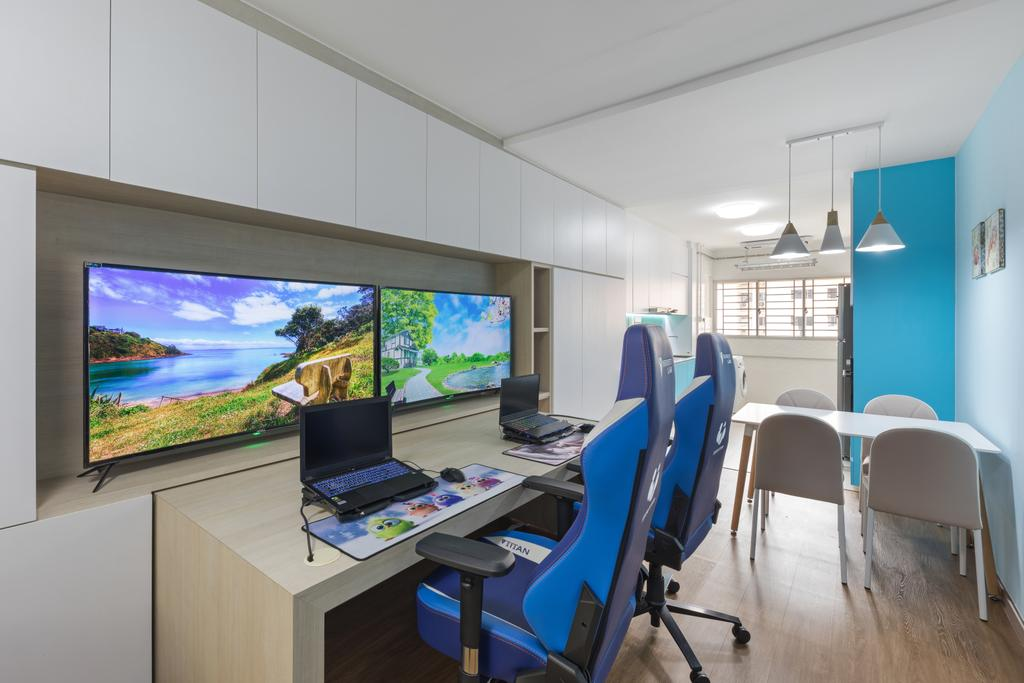 Modern, HDB, Living Room, Serangoon Central Drive, Interior Designer, Starry Homestead