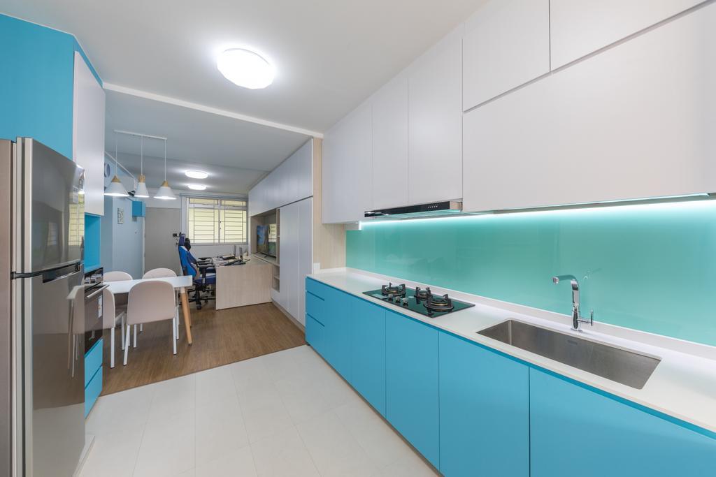 Modern, HDB, Kitchen, Serangoon Central Drive, Interior Designer, Starry Homestead