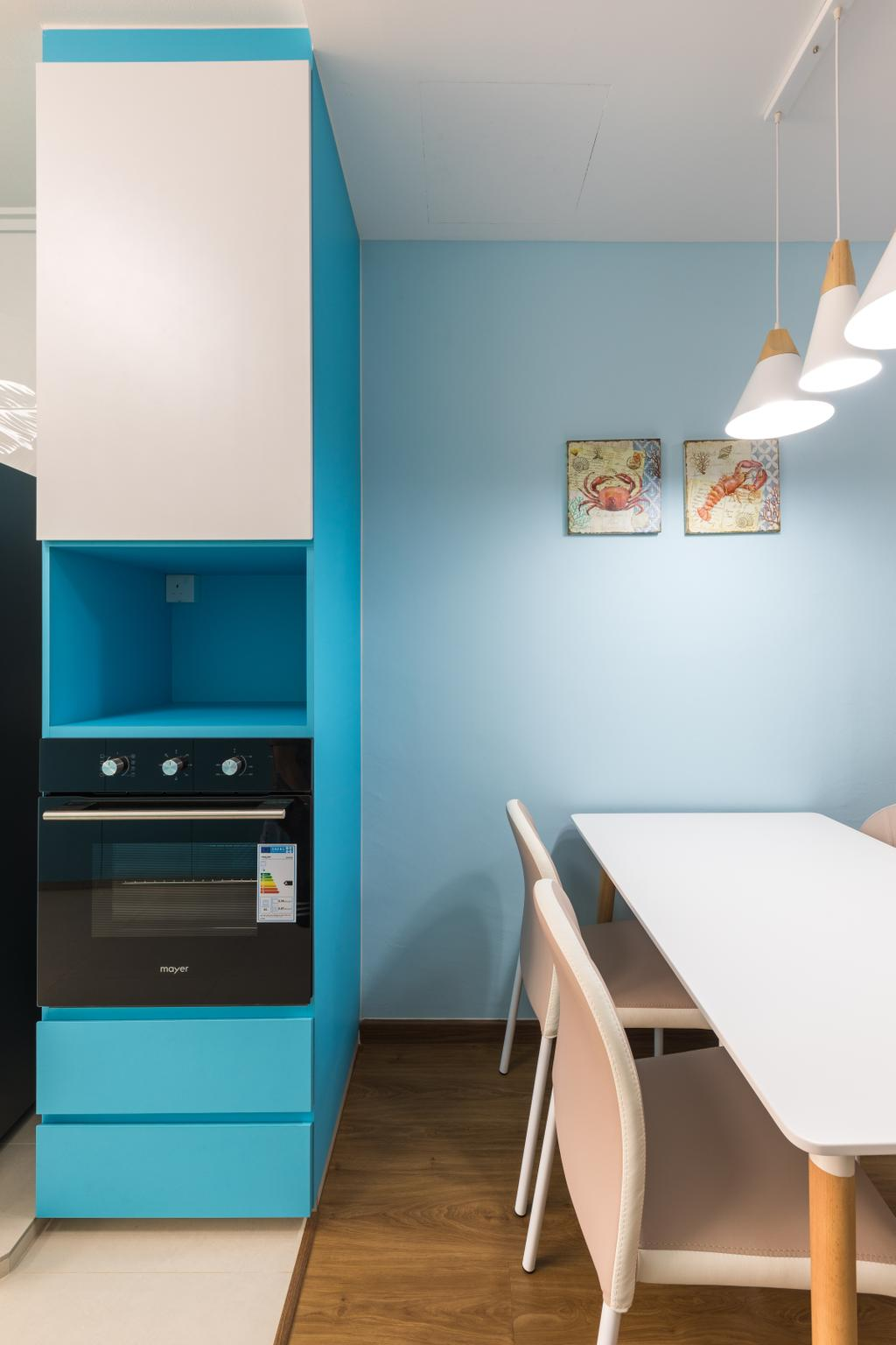 Modern, HDB, Dining Room, Serangoon Central Drive, Interior Designer, Starry Homestead