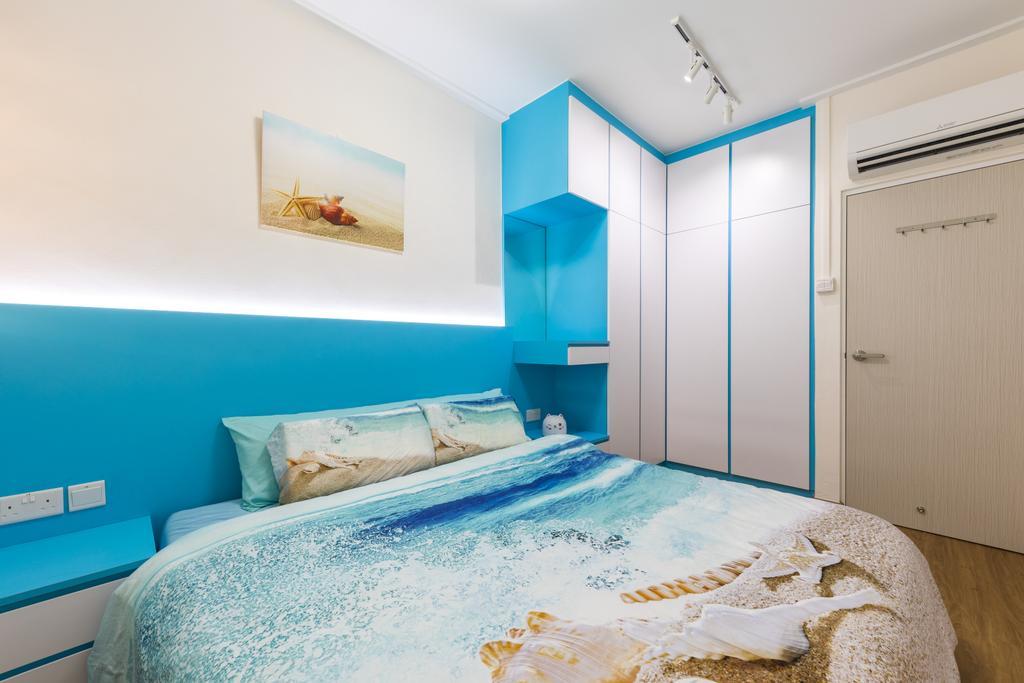 Modern, HDB, Bedroom, Serangoon Central Drive, Interior Designer, Starry Homestead