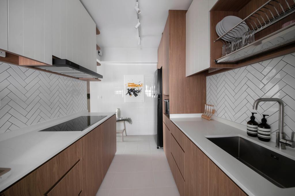 Contemporary, HDB, Kitchen, Henderson Road, Interior Designer, Happe Design Atelier