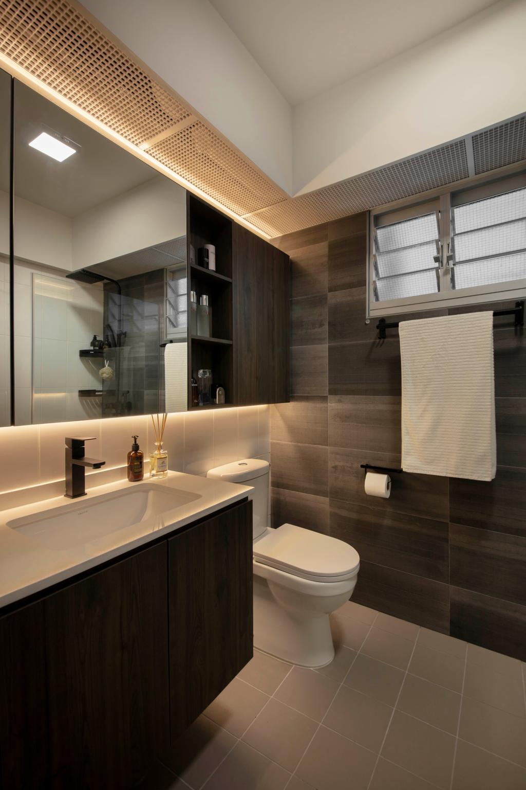 Contemporary, HDB, Bathroom, Henderson Road, Interior Designer, Happe Design Atelier