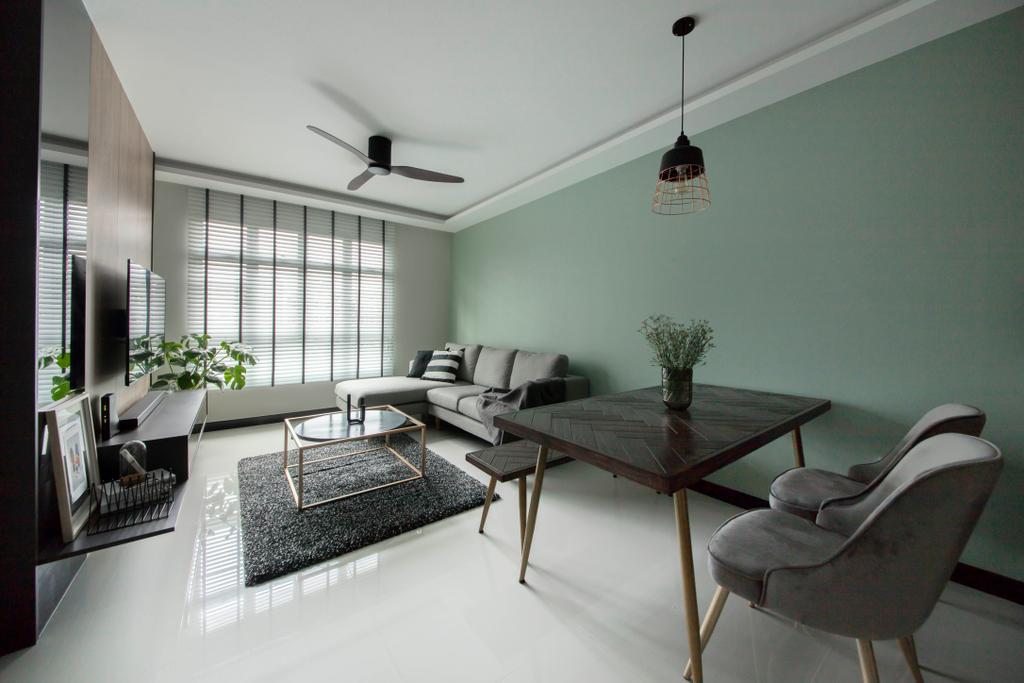 Contemporary, HDB, Living Room, Henderson Road, Interior Designer, Happe Design Atelier