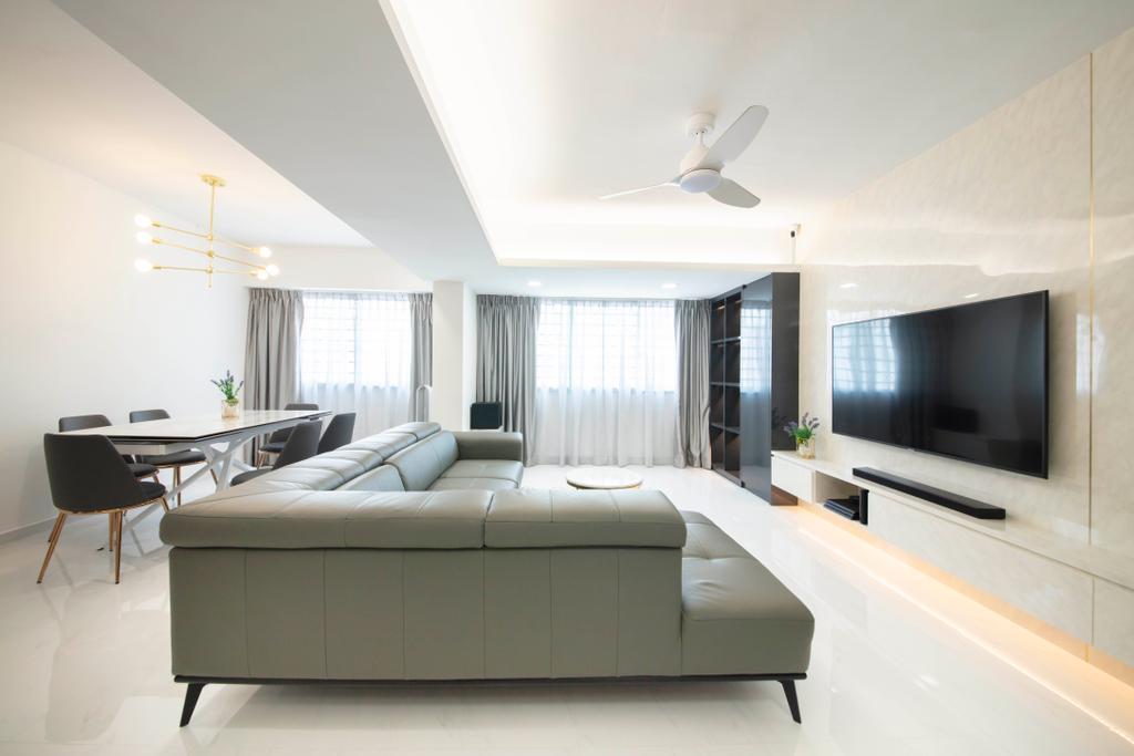 Contemporary, HDB, Living Room, Choa Chu Kang Avenue 3, Interior Designer, ECasa Studio