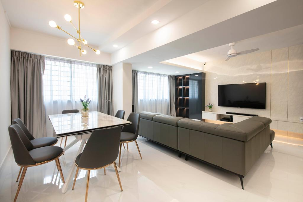 Contemporary, HDB, Dining Room, Choa Chu Kang Avenue 3, Interior Designer, ECasa Studio