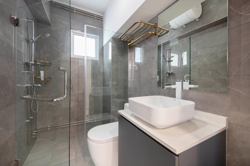 Contemporary, HDB, Bathroom, Choa Chu Kang Avenue 3, Interior Designer, ECasa Studio