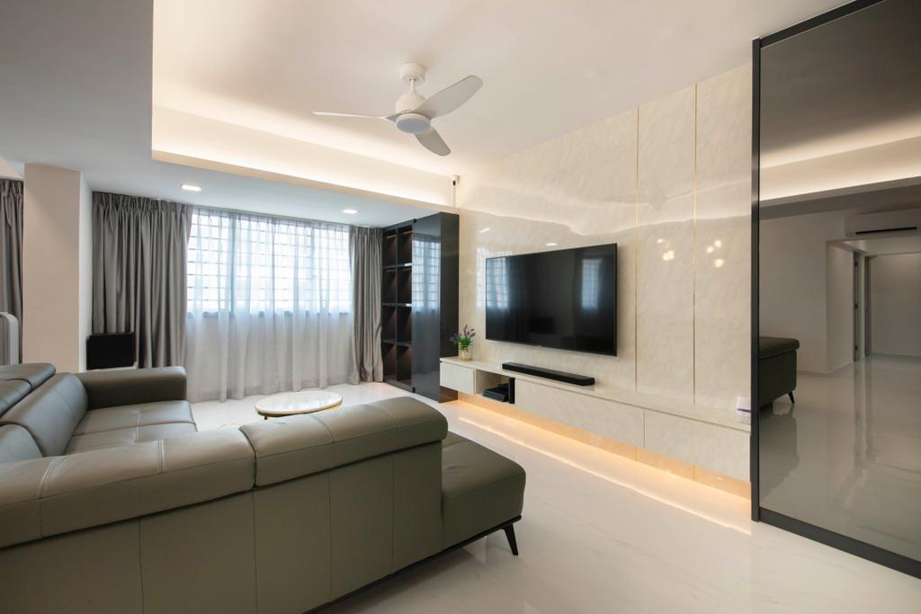 Contemporary, HDB, Living Room, Choa Chu Kang Avenue 3, Interior Designer, ECasa Studio