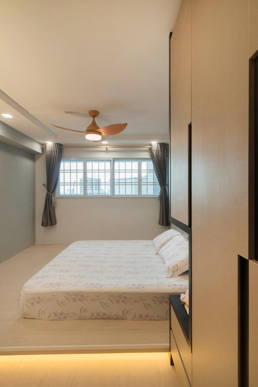 Contemporary, HDB, Bedroom, Telok Blangah, Interior Designer, Great Oasis Interior Design