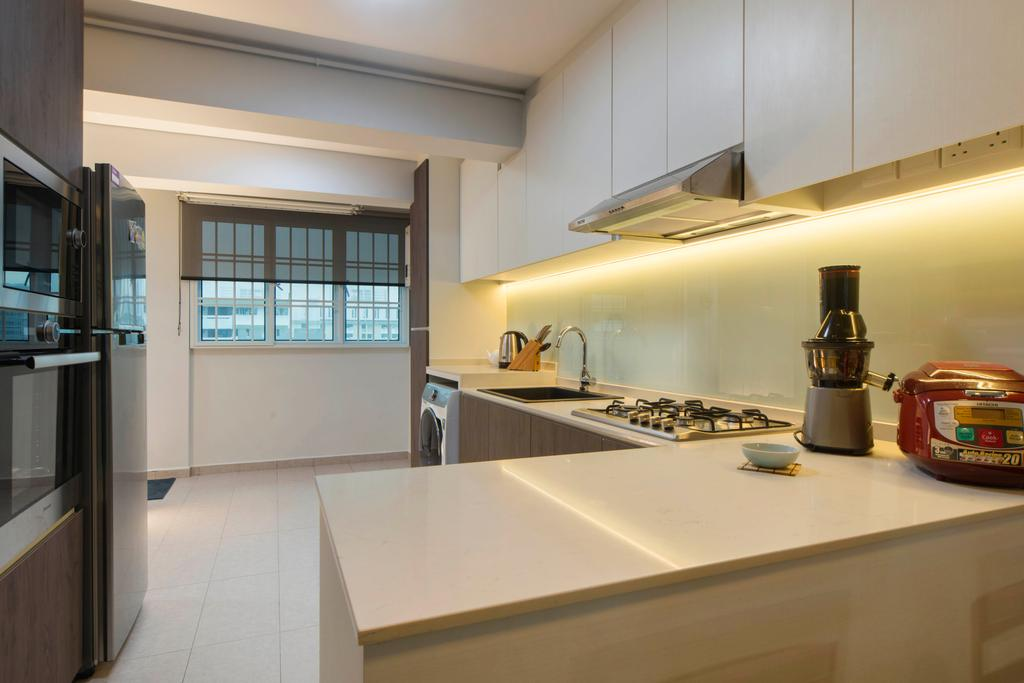 Contemporary, HDB, Kitchen, Telok Blangah, Interior Designer, Great Oasis Interior Design