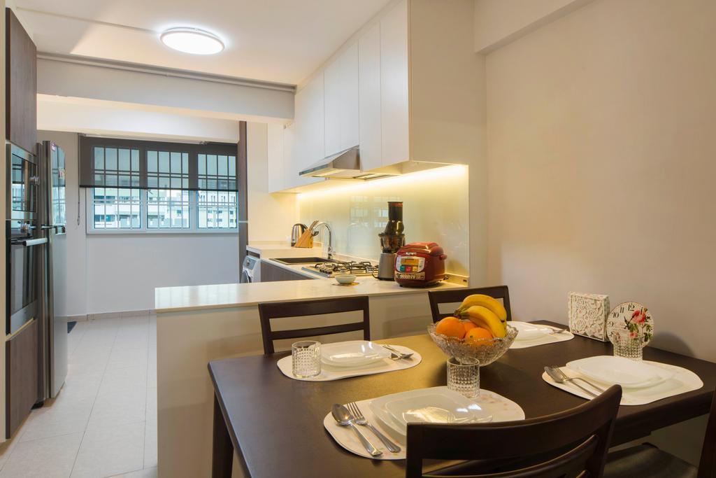 Contemporary, HDB, Dining Room, Telok Blangah, Interior Designer, Great Oasis Interior Design