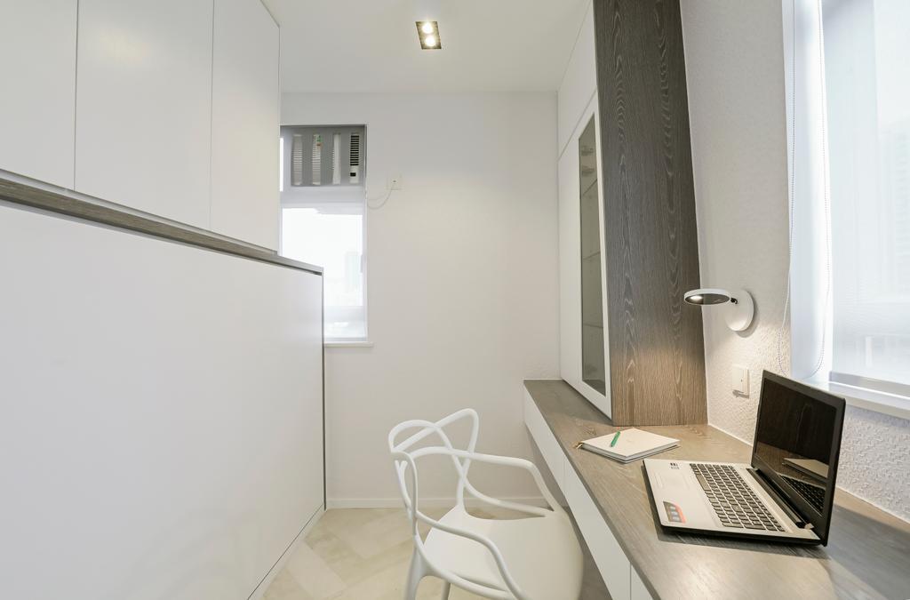 簡約, 私家樓, 書房, 九龍灣, 室內設計師, O - Square Interior Design, 摩登