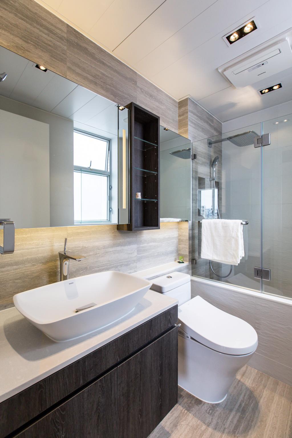 摩登, 私家樓, 浴室, 九龍塘, 室內設計師, O - Square Interior Design, 簡約
