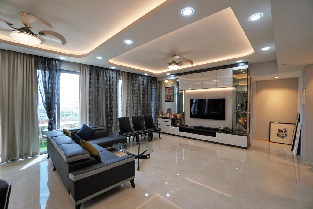 Contemporary, Condo, Living Room, Bedok Residences, Interior Designer, Interior Diary