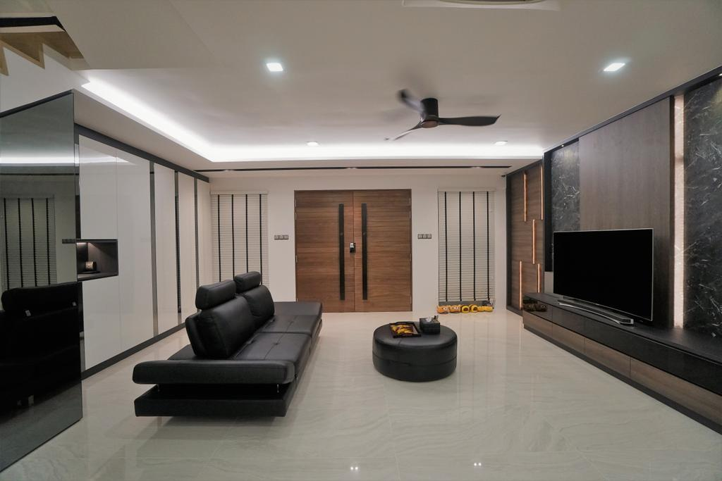 Contemporary, Landed, Living Room, Serangoon, Interior Designer, Interior Diary