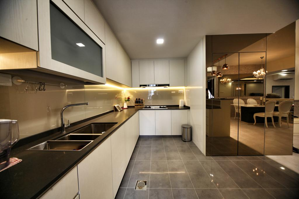 Contemporary, Condo, Kitchen, Lorong L @ Telok Kurau, Interior Designer, Interior Diary