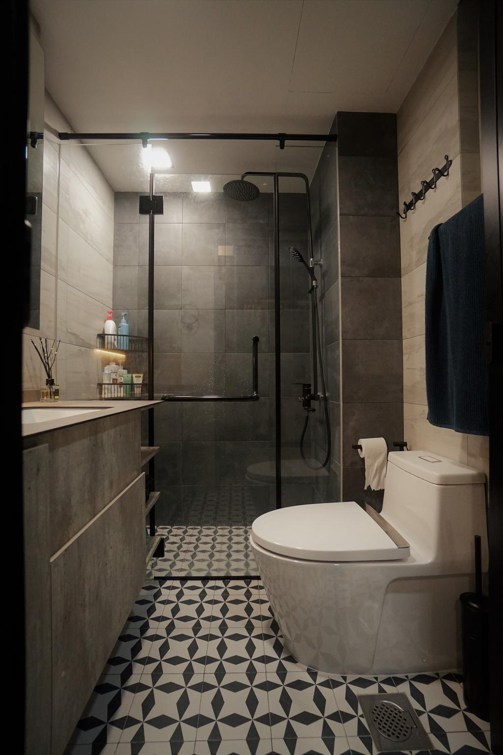 Contemporary, Condo, Bathroom, Lorong M @ Telok Kurau, Interior Designer, Interior Diary
