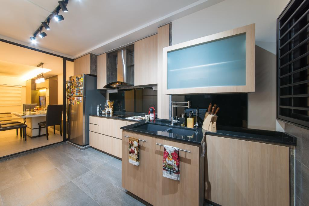 Contemporary, HDB, Kitchen, Hougang Avenue 1, Interior Designer, Z House Interior Design