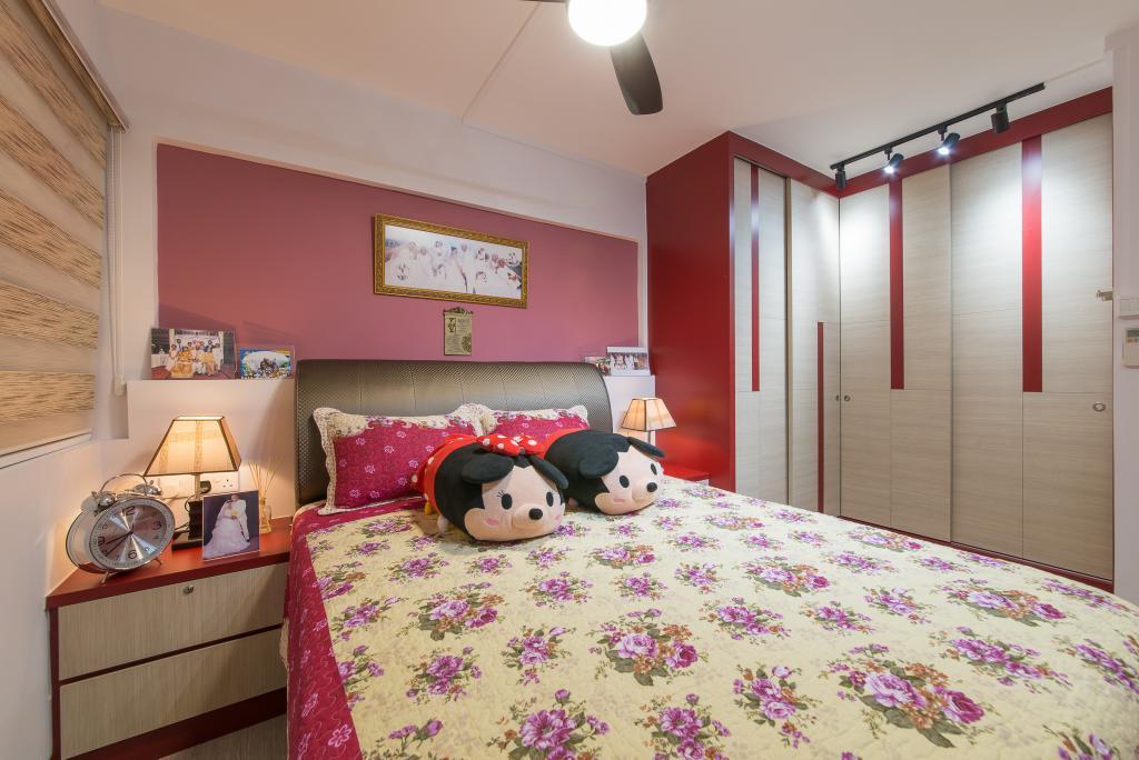 Contemporary, HDB, Bedroom, Hougang Avenue 1, Interior Designer, Z House Interior Design