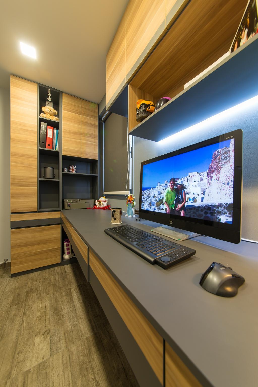 Contemporary, HDB, Study, Pasir Ris Drive 1, Interior Designer, Z House Interior Design