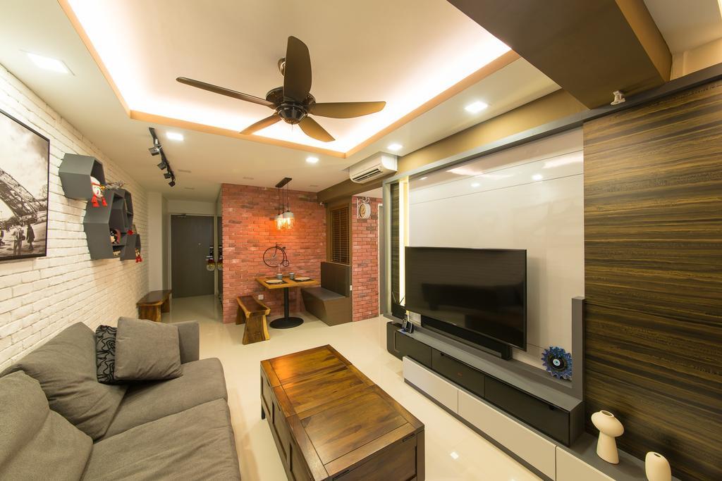 Contemporary, HDB, Living Room, Pasir Ris Drive 1, Interior Designer, Z House Interior Design