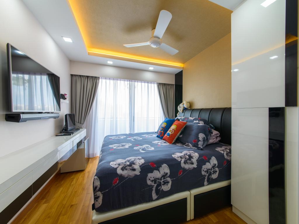 Contemporary, HDB, Bedroom, Punggol Drive, Interior Designer, Z House Interior Design