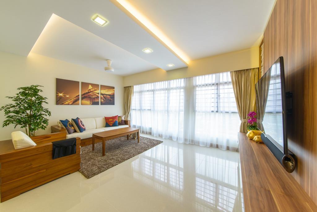 Contemporary, HDB, Living Room, Punggol Drive, Interior Designer, Z House Interior Design