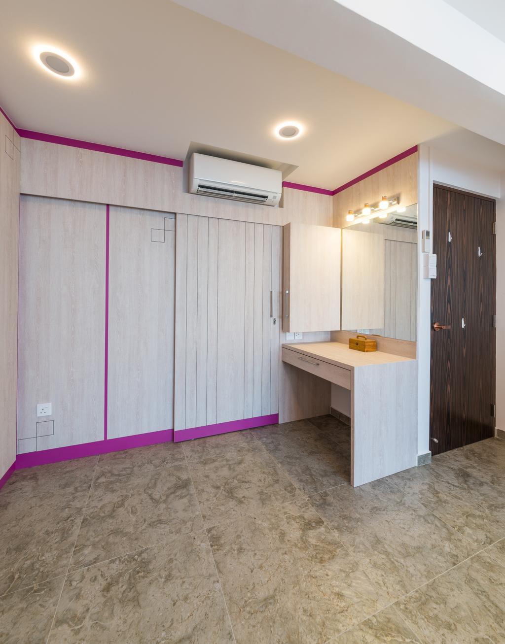 Contemporary, HDB, Bedroom, Whampoa Drive, Interior Designer, Z House Interior Design