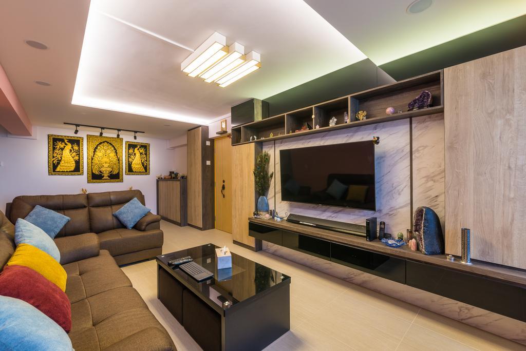 Contemporary, HDB, Living Room, Whampoa Drive, Interior Designer, Z House Interior Design