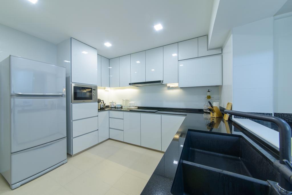 Contemporary, HDB, Kitchen, Woodlands Drive 16, Interior Designer, Z House Interior Design, Modern