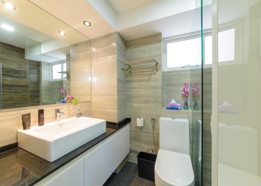 Contemporary, HDB, Bathroom, Woodlands Drive 16, Interior Designer, Z House Interior Design, Modern