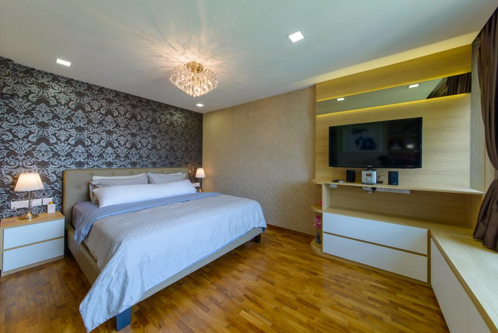 Contemporary, HDB, Bedroom, Woodlands Drive 16, Interior Designer, Z House Interior Design, Modern