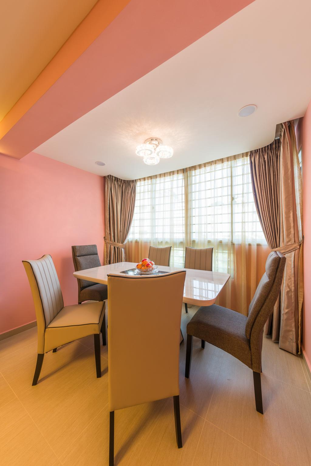 Contemporary, HDB, Dining Room, Whampoa Drive, Interior Designer, Z House Interior Design