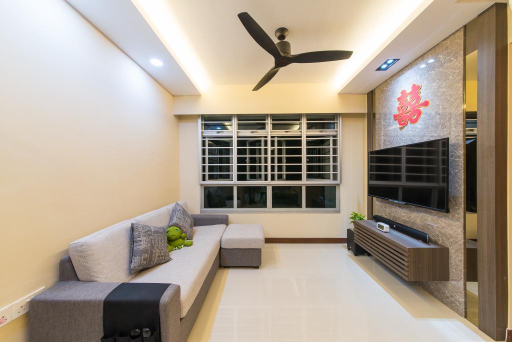 Contemporary, HDB, Living Room, Yishun Street 51, Interior Designer, Z House Interior Design