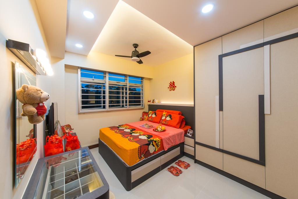 Contemporary, HDB, Bedroom, Yishun Street 51, Interior Designer, Z House Interior Design