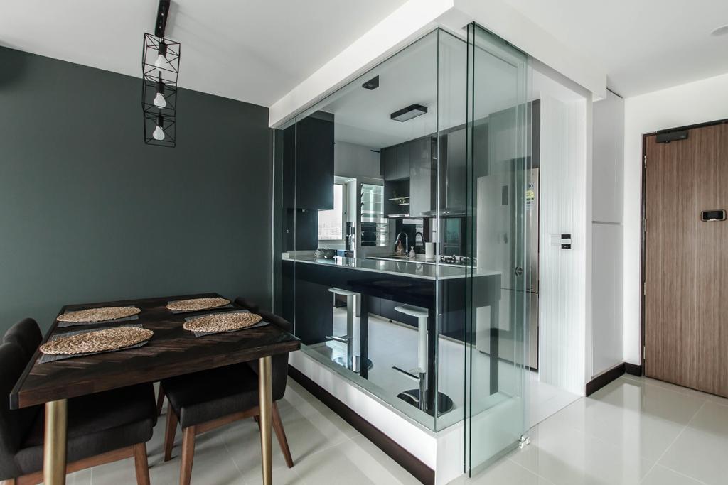 Contemporary, HDB, Dining Room, Bukit Batok Street 22, Interior Designer, Space Atelier