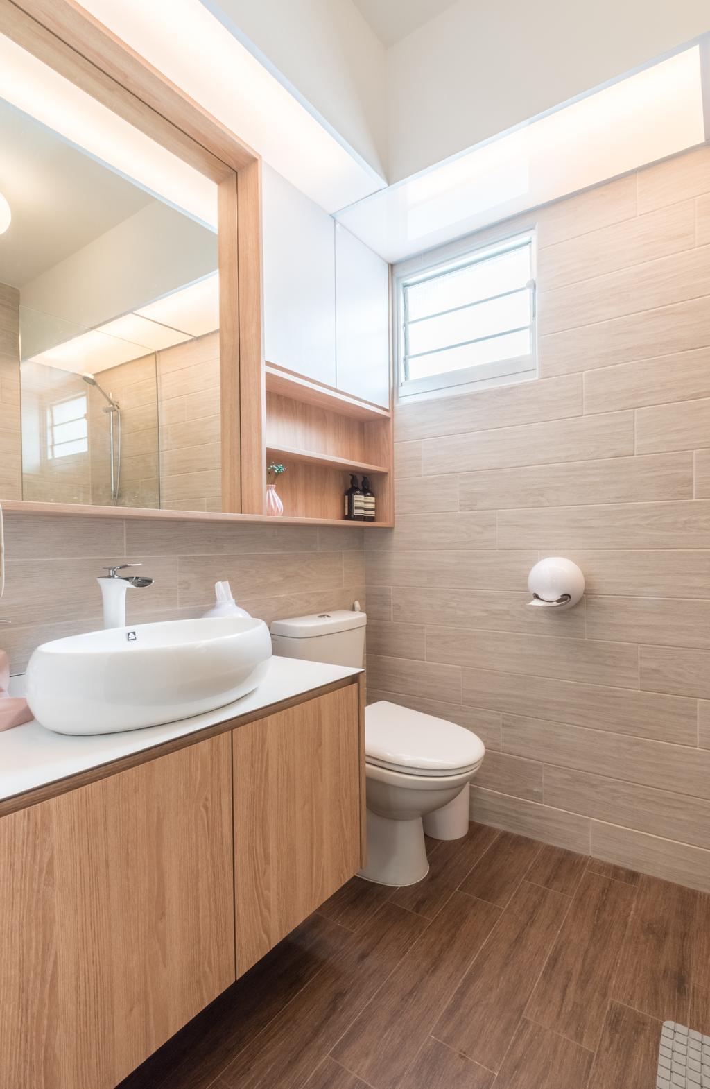 Contemporary, HDB, Bathroom, Bukit Batok West Avenue 8, Interior Designer, Space Atelier