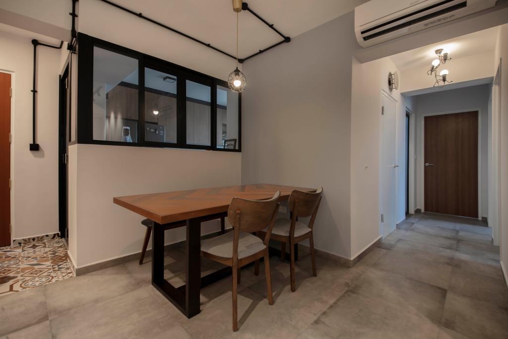 Contemporary, HDB, Dining Room, Sembawang Crescent, Interior Designer, ELPIS Interior Design