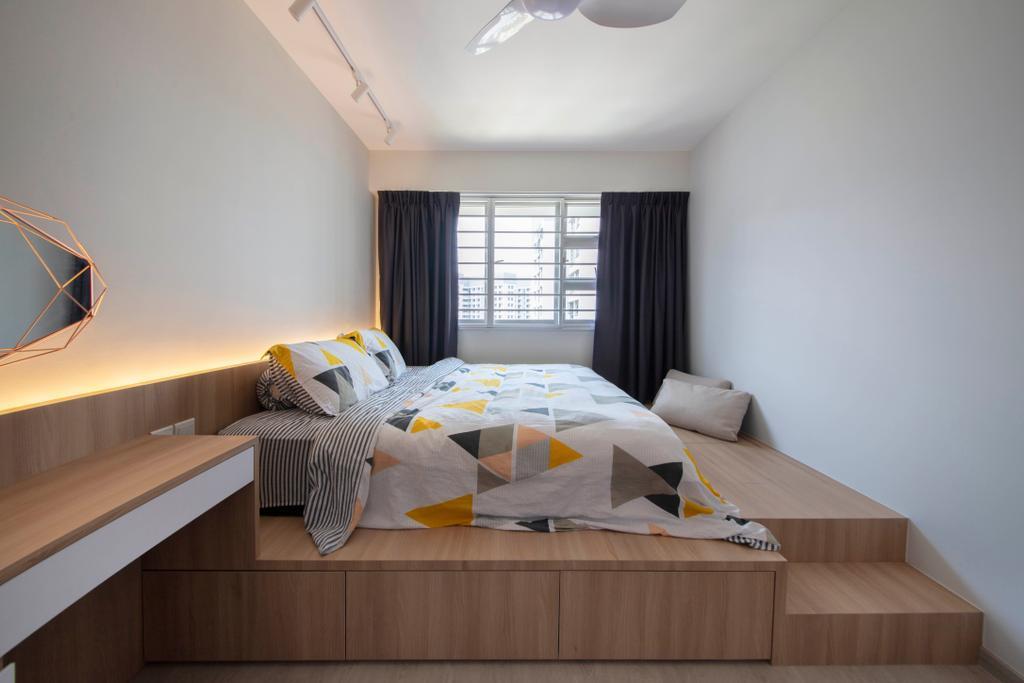 Contemporary, HDB, Bedroom, Sembawang Crescent, Interior Designer, ELPIS Interior Design