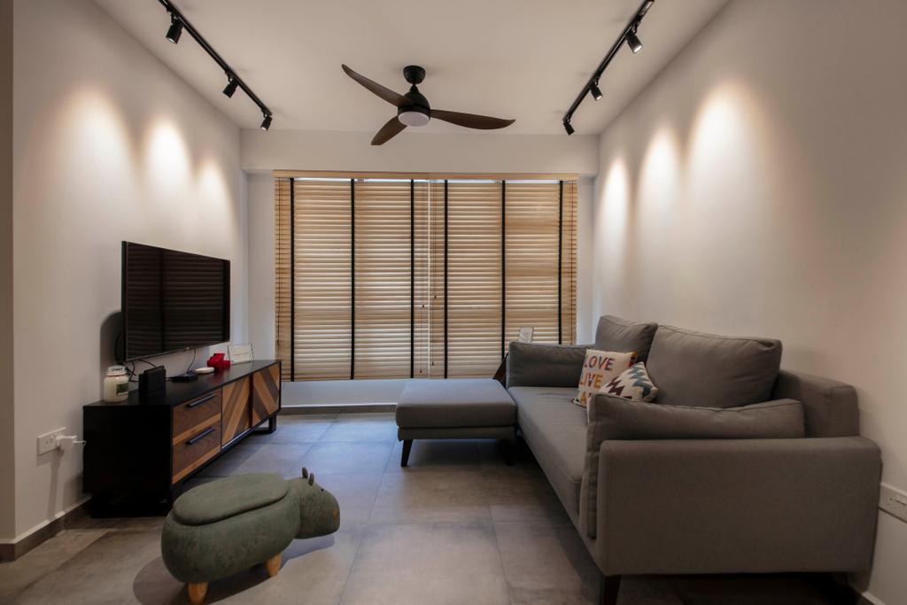 Contemporary, HDB, Living Room, Sembawang Crescent, Interior Designer, ELPIS Interior Design
