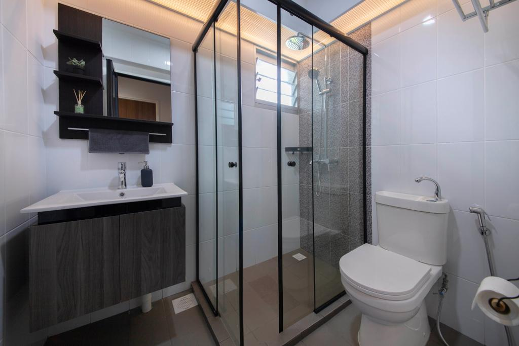 Contemporary, HDB, Bathroom, Sembawang Crescent, Interior Designer, ELPIS Interior Design