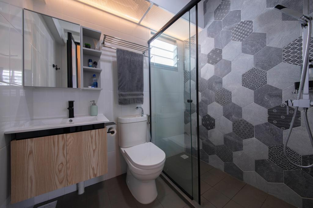 Contemporary, HDB, Bathroom, Sembawang Crescent, Interior Designer, ELPIS Interior Design